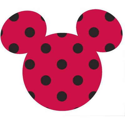 Springs Creative Products Group, Llc Disney Mickey Small Ears Adhesive Printed Burlap, Red