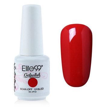 Elite99 Gelpolish Soak-off Gel Nail Polish UV LED Nail Art Red 8ml 1343