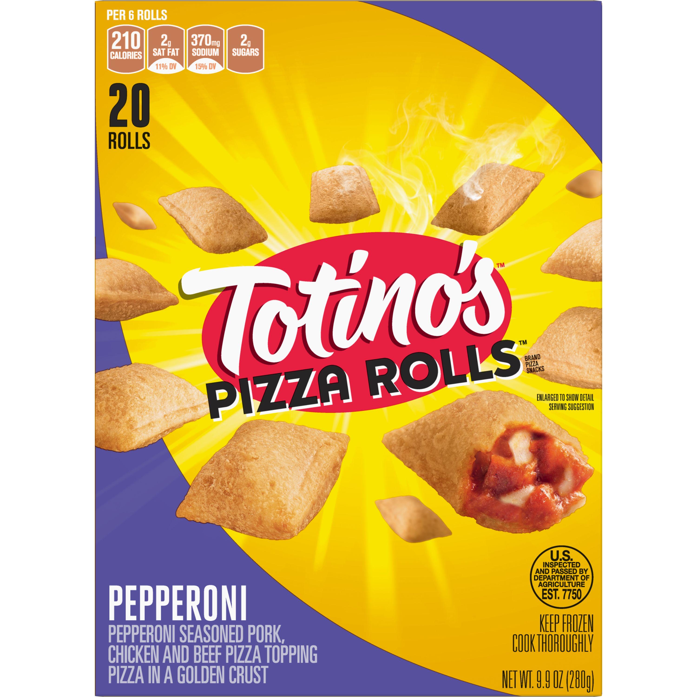 Totino's Pizza Rolls, Pepperoni, 20 Rolls, 9.9 oz Box