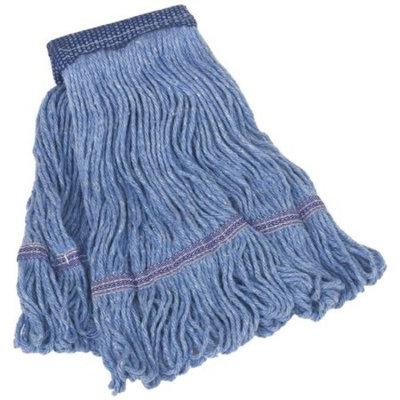 Harper 160201-2 Wet Mop, Medium, 4 Ply, Synthetic Blend, Blue