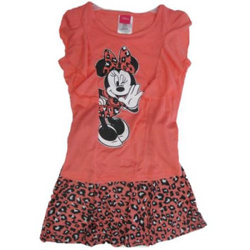 Desigual Disney Little Girls Coral Minnie Printed Spotted 2 Pc Skirt Set 6X