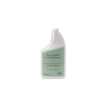 Black Diamond Stone Wash for Cleaning Limestone, Travertine& Marble. Honed or Tumbled Natural Stone Floors. Concentrate Set of 2 Qts.