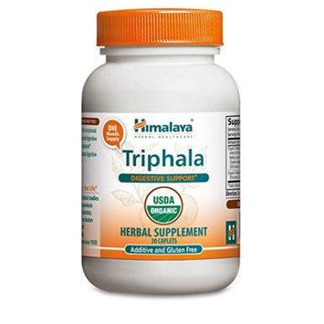 Triphala, Organic Herbal Supplement, 30 Caplets, Himalaya Herbal Healthcare