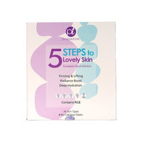 Purpletale 5 Steps To Lovely Skin Complete Facial Solution Firming and Lifting Hydrating RGII Face Mask - Pack of 8