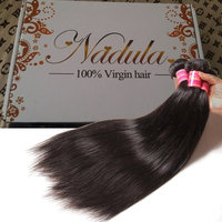 Nadula 8a Brazilian Straight Hair Weaves 3pcs/lot Virgin Remy Human Hair Bundles Natural Color