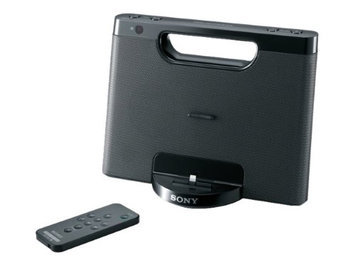 Sony RDPM7IPBLKN Iphone-ipod Portable Speaker Dock With Lightning Connector