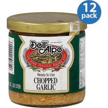 Dell'Alpe Chopped Garlic, 7.5 oz, (Pack of 12)