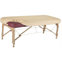 Therapist's Choice Durable Fitted PU Vinyl leather Protection Cover for Massage Tables (Massage Table not included) (Creme (Beige))