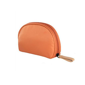 Cosmetic Bag Handbag Makeup Accessories Portable Brushes Small Travel Waterproof Cases Electronics Organizer for Women (Orange)