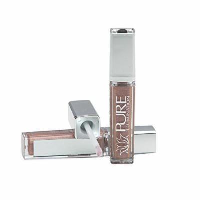 Pure Cosmetics Pure Illumination Natural Hydrating Lip Gloss Push Button Light Up with Mirror - Cosmic Latte, 0.30 fl. oz.