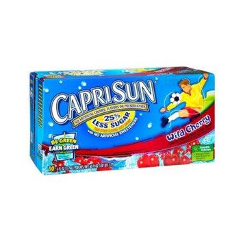 Caprisun Wild Cherry Juice Pouches, 10 CT (Pack of 4)
