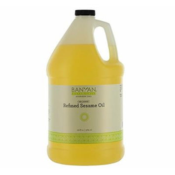 Banyan Botanicals Refined Sesame Oil - USDA Organic, 128 oz - Unscented Traditional Ayurvedic Oil For Massage
