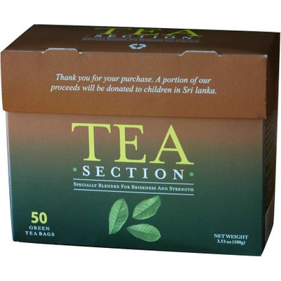Tea Section Green Tea Bags, 50 count, 3.53 oz