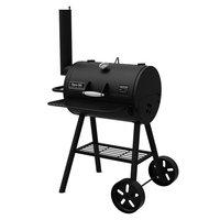 Dyna-Glo Heavy-Duty Compact Barrel Charcoal Grill in Black