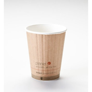 12 Oz. Biodegradable Hot Drink Cup PLA Lined Built-in Heat Sleeve (Pack of 520)