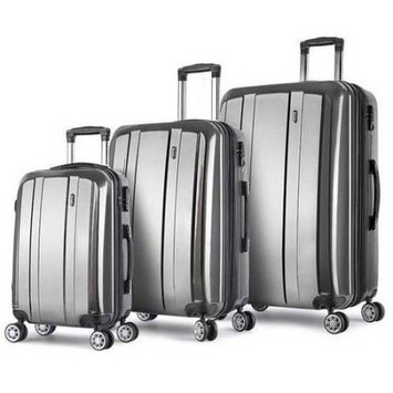 Proht Powered By Inland ProHT AnyCross 3-Piece Hardside Luggage Set, 28 Inch, 24 Inch and 20 Inch Set, ABS + PC, TSA Locks