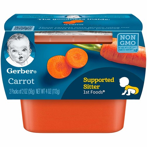 Gerber Purees 1st Foods Carrot Tubs
