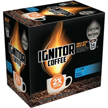 Ignitor Coffee Bold Roast Single Serve Brew Cups, 0.37 oz, 14 pack