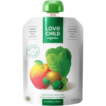 Love Child Organics Apples, Spinach, Kiwi & Broccoli Organic Puree Baby Food, 4 oz, (Pack of 6)