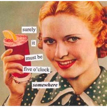 Paperproducts Design 4273 Anne Taintor Beverage/Cocktail Napkin, 5'o Clock Somewhere