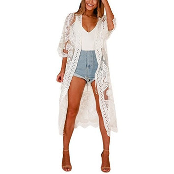 lotus.flower 2018 Women Hollow-Out Bikini Cover Up Shirt Beach Sunscreen Overall Blouse Tops