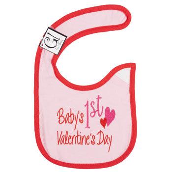 Dollaritemdirect BABY BIB 1st VALENTINES DAY 12.5 X 8 COTTON, Case Pack of 144