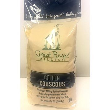 Great River Milling Golden Couscous, 24 Ounce (Pack of 4)