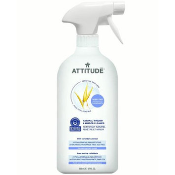 Bio Spectra Attitude Sensitive Skin Care Natural Window & Mirror Cleaner, Fragrance Free, 27 Oz