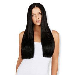 Leyla Milani Clip-In Luxury Hair Extension 24-inch Jet Black