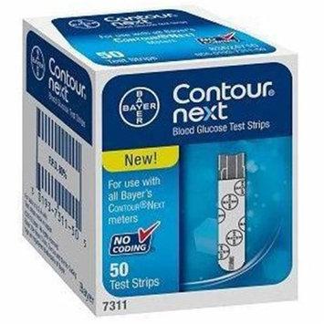 Ascensia Diabetes Care US 567311 Contour Next Blood Glucose Test Strip - 50 Count