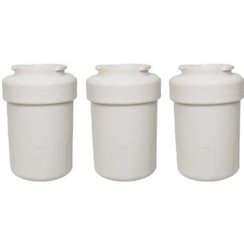 Crucial Brands 3 GE Refrigerator Water Purifier Filters Fit GE MWF GWF HWF 46-9991 WSG-1 WF287 & EFF-6013A