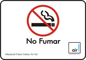 Accu Form NO FUMAR MARYLAND CLEAN INDOOR ACT W/GRAPHIC (Pack of 2)