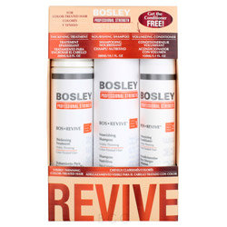 Bosley Professional Strength Bos Revive Holiday Pack for Color-Treated Hair 3 piece
