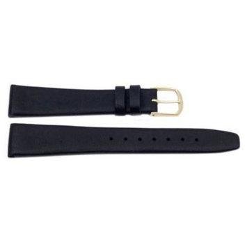 Genuine Elegant Soft Leather 18mm Black Watch Strap