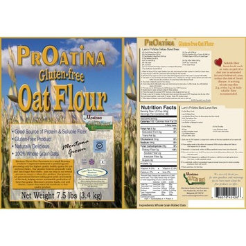 Gluten Free Oatmeal, Raw - 7.5 Pound Bag - Rolled Oats
