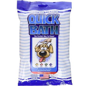 Quick Bath Small Dog Quick Wipes Bulk: Bulk 10 Pack - (12 Wipes per Pack) #1086 - Pet Wipes