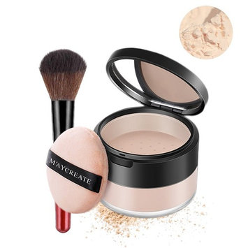 Magic Minerals Powder Foundation Oil-control Longlasting Loose Powder Set Waterproof Concealer With Makeup Brush For Women Shine Works All Day Make Up