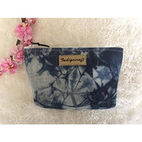 Indigo Craft Cosmetic Beauty and Makeup case Bag Travel Organizer Pouch for women purse Unique Handmade in Indigo pattern style