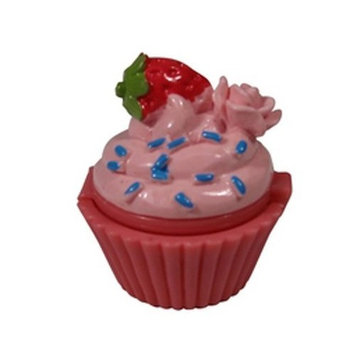 Lip Gloss Sugar and Spice Strawberry Sprinkle in Cupcake Container by NPW