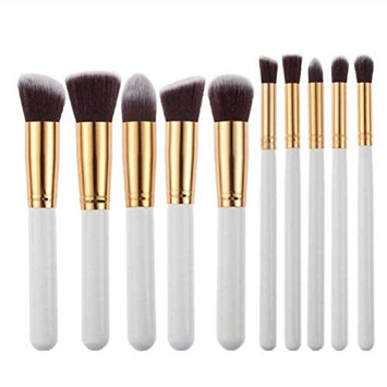 Makeup Brush,Neartime 10pcs Make Up Brushes Set Powder Foundation Eyeshadow Tool