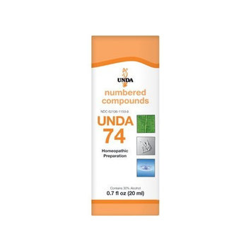 UNDA - UNDA 74 Numbered Compounds - Homeopathic Preparation - 0.7 fl oz (20 ml)