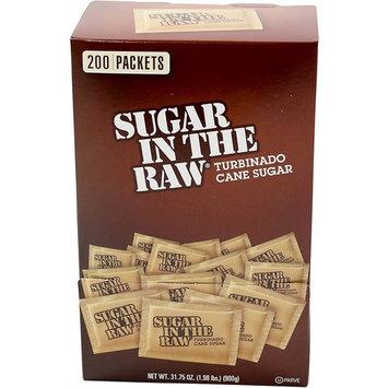 Folgers Sugar In The Raw Turbinado Cane Sugar, Box of 200-4.5g packets, 2 Boxes