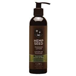 Earthly Body Hemp Seed Massage Lotion 8oz/237mL in Guavalava - ML068