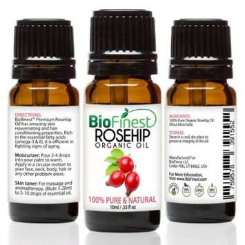 BioFinest Rosehip Oil - 100% Pure Cold-Pressed - Certified Organic - Chile Premium Rosehip Seed Oil - BEST Moisturizer for Face, Nails, Dry Hair & Skin - FREE E-Book
