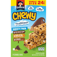 The Quaker Oats Company Quaker Chewy Granola Bars Variety Pack, 24 Count, 0.84 oz Bars