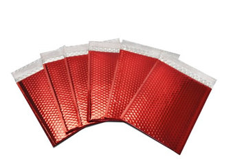 Packagingsuppliesbymail Glamour Bubble Mailers-13.75' x 11'-Red-500 Pieces = 10 Cases