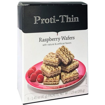 Proti-Thin - Protein Wafer Squares - Raspberry - Diet Wafer Squares - 5 Count [Raspberry]