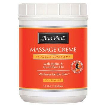 Bon Vital Muscle Therapy Massage Creme, 1/2 Gallon Jar