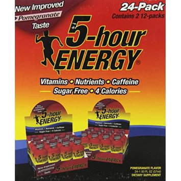 5-Hour Energy Nutritional Drink, Pomegranate, 1.93 oz, 24 Count