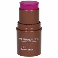 Mineral Fusion 3-in-1 Color Stick, Berry Glow, .18 Ounce